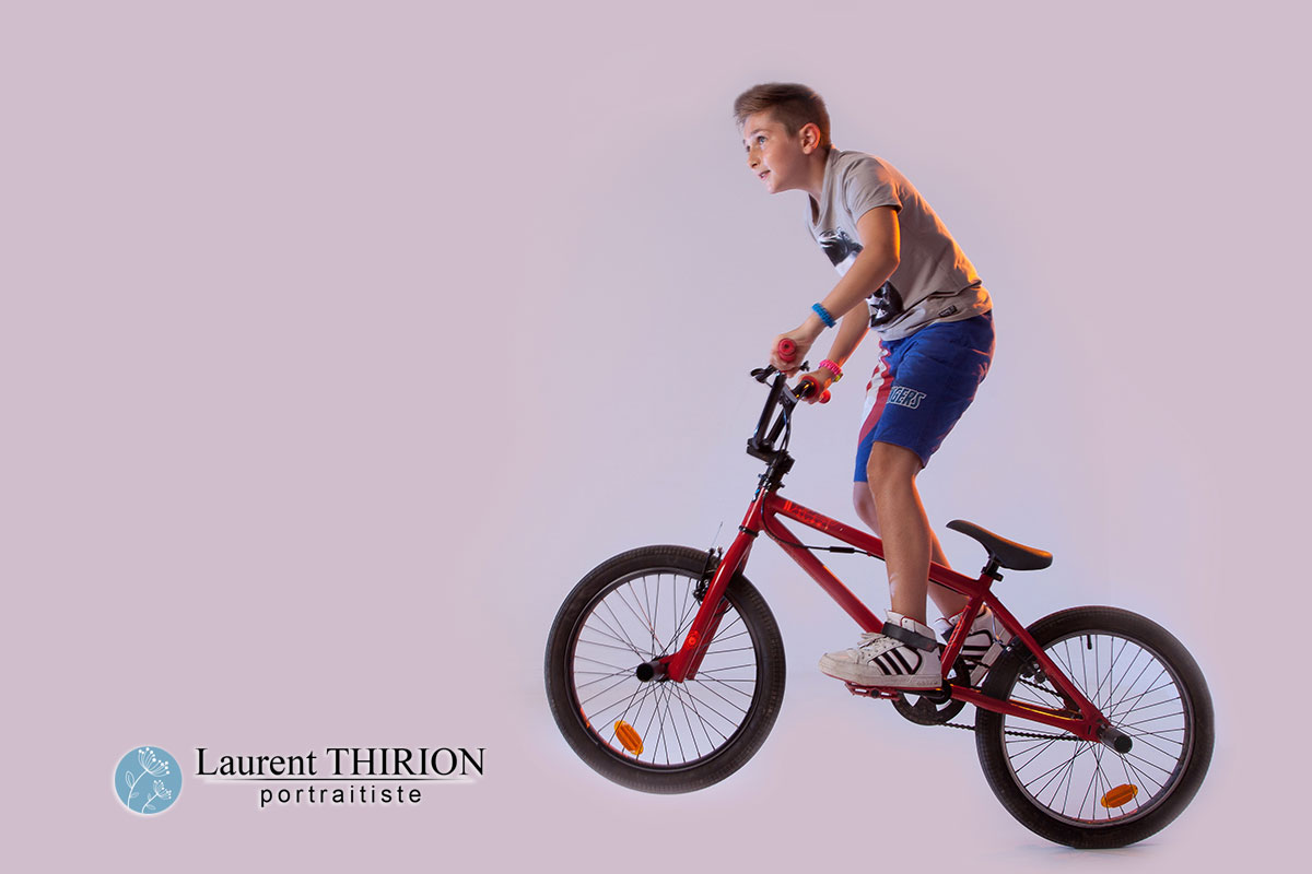 BMX au studio, photo passion, passion enfant